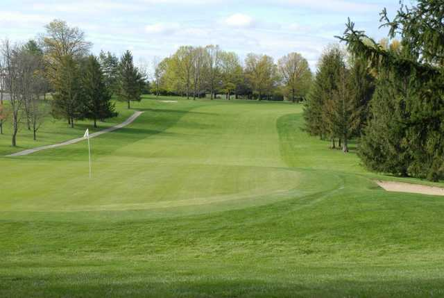 A view of hole #9 from South at South Hills Golf Club.