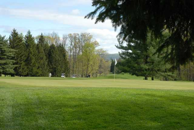 A view of a hole from North at South Hills Golf Club.