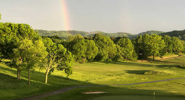 A view of a rainbow over Old Natchez Country Club.