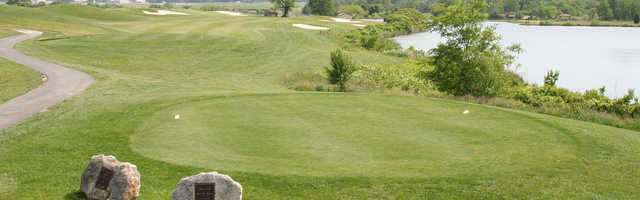 A view of a tee at Andrews AFB Golf Course.