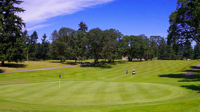 A view of a green at Eagles Pride Golf Course.