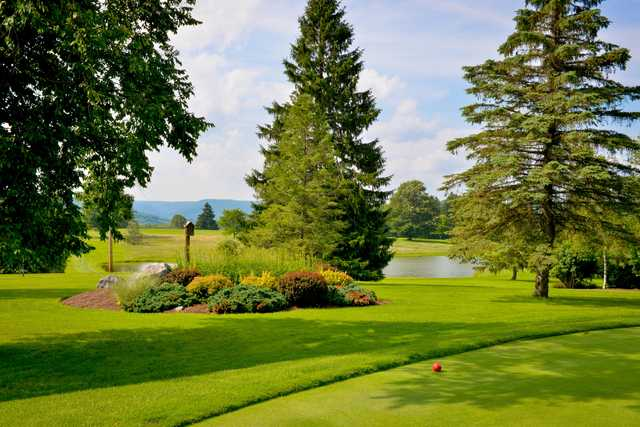 A view from a tee at Tyoga Country Club.