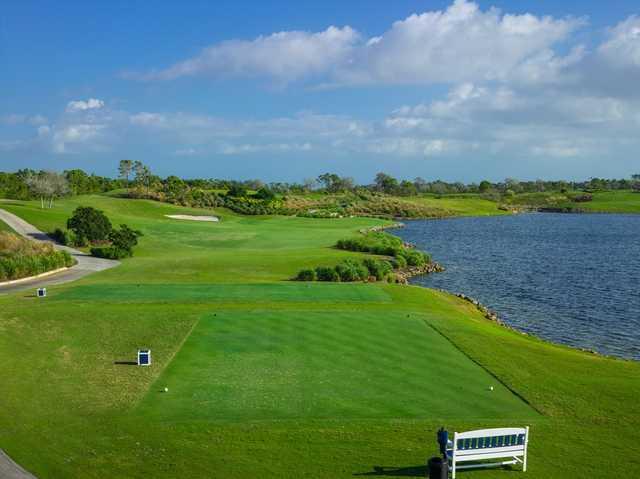 A view of tee #8 at Quail Valley Golf Club.