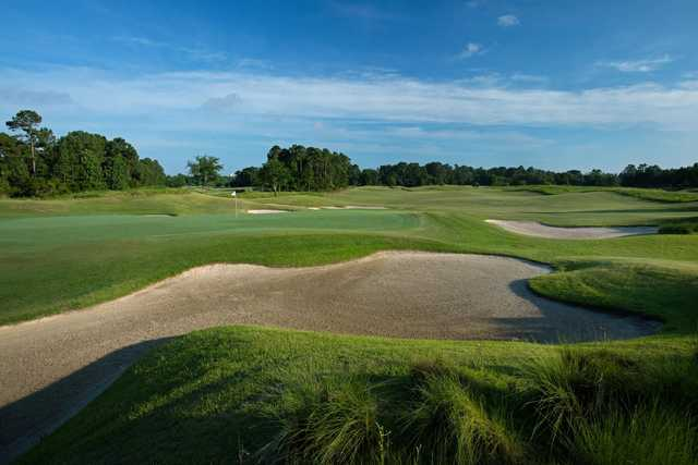 A view of the 14th green at Grande Dunes Members Club.