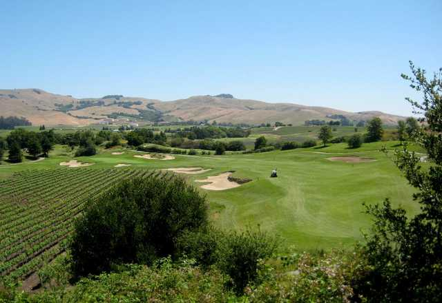 Eagle Vines Vineyards & Golf Club is located about five miles south of Napa in the rolling foothills.