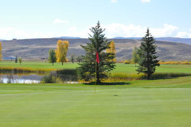 View of the 14th green at Yampa Valley Golf Club