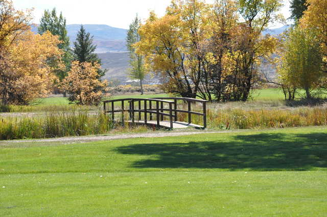 View of a bridge at Yampa Valley Golf Club