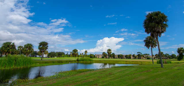 A view over the water from Mallards Landing Golf Course.