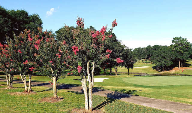 A view of a green at Rocky Bayou Country Club.
