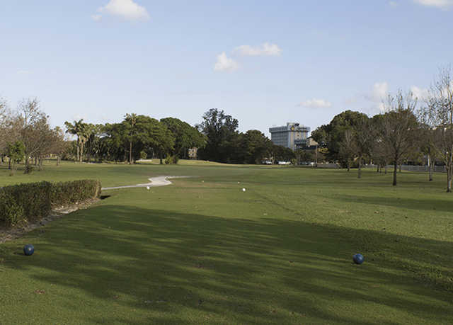 A view from tee #2 at Miami Springs Golf & Country Club.