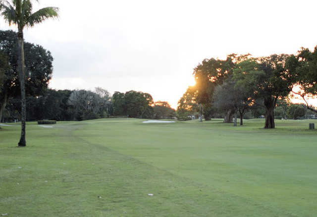 A view from the left side of fairway #2 at Miami Springs Golf & Country Club.