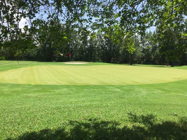 A view of a green at Apollo Beach Golf Club.
