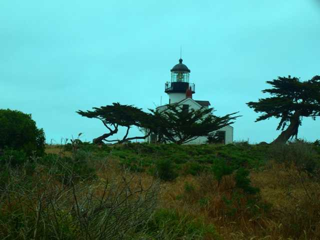 The famous Point Pinos Lighthouse can be seen from every hole on the back nine at Pacific Grove Golf Links.