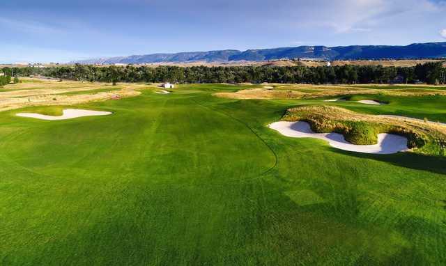 A view of a fairway at Three Crowns Golf Club.