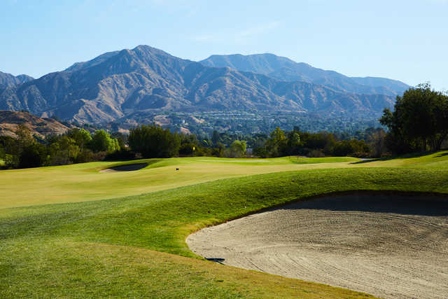 A view of a hole at Angeles National Golf Club.