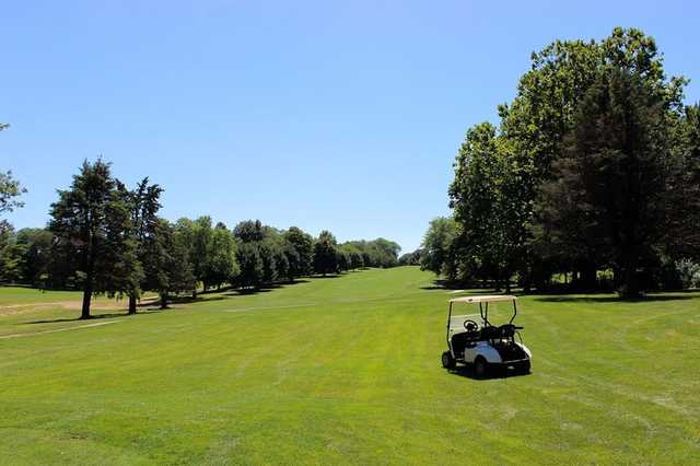 A view of a fairway at Johnny Goodman Golf Course (City of Omaha Golf Courses).