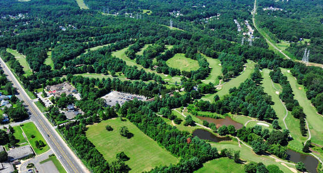 Aerial view from Bowie Golf Club
