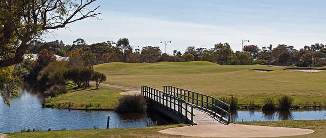 View of the 15th hole at Dunsborough Lakes Golf Club.
