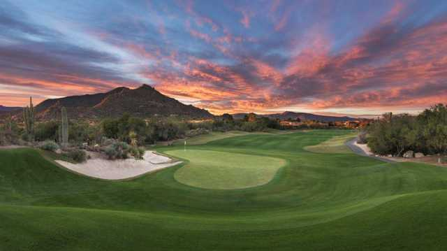 A view of the 9th green from North at Boulders Golf Club & Resort.