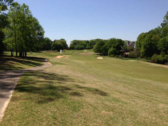 A view of fairway #7 from Red Nine at The Golf Club At Bradshaw Farm.