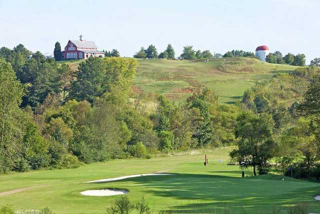 A view of a hole at Blue Nine from The Golf Club At Bradshaw Farm.