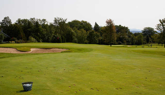 A view of a green at Burlington Country Club.