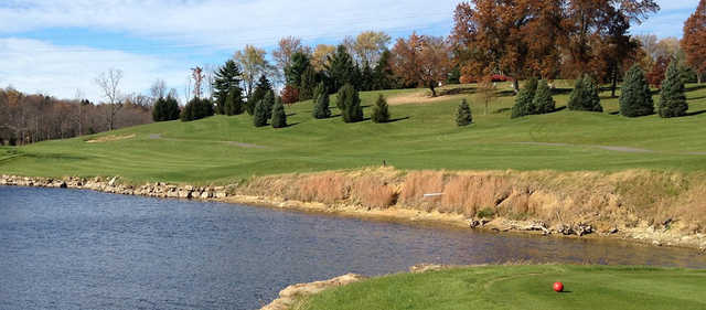 A view from a tee at Butler's Golf Course.