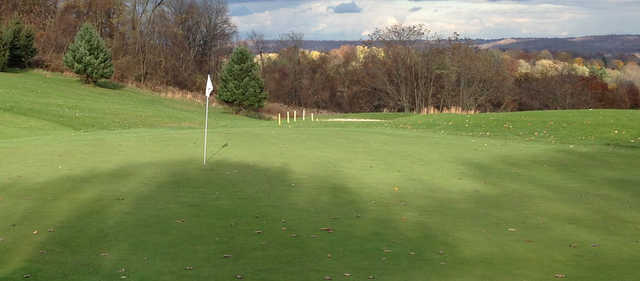 A fall day view of a hole at Butler's Golf Course.