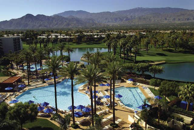The pool scene is happening at JW Marriott Desert Springs Resort and Spa.