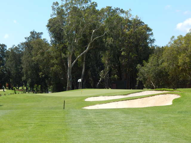View of the 3rd green at Everglades Country Club