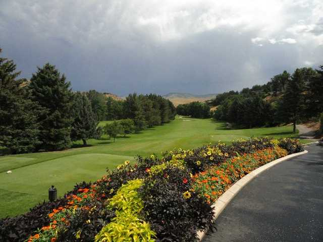 A view of tee and fairway #10 at Crane Creek Country Club.