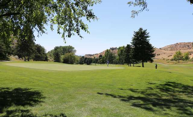 A view of a green at Crane Creek Country Club.
