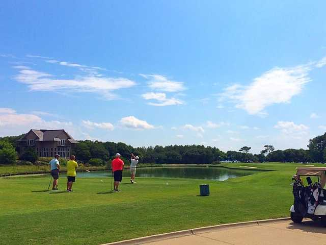 A view of a tee at The Currituck Club.