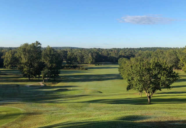 A view of a green at Republic Golf Course & Club.