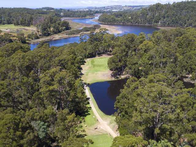 Aerial view of the Ulverstone Golf Club