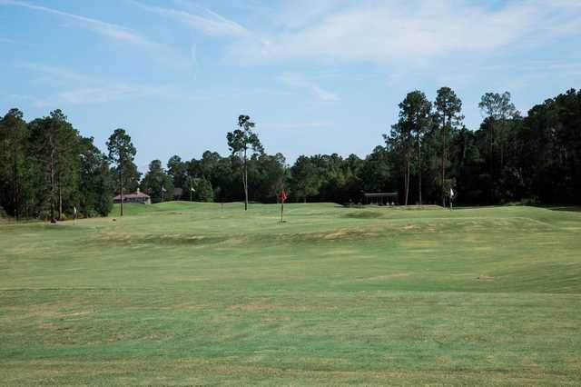 A view of the practice area from the Golf Club At Fleming Island.
