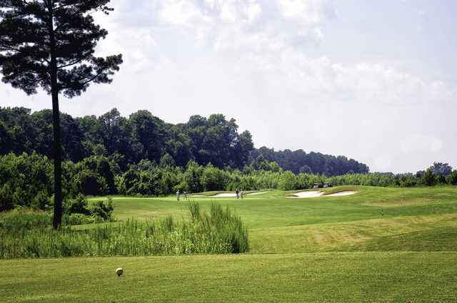 A view from a tee at Belmont Lake Golf Club.