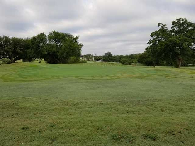 A view of a green at Fort Sam Houston Golf Course.
