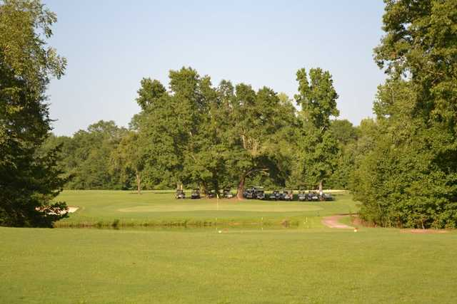 A view of a green at Green River Country Club.