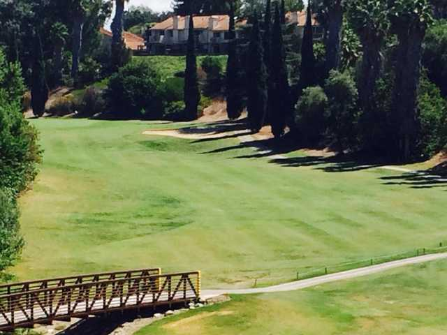 A view of fairway #1 at Fullerton Golf Course.