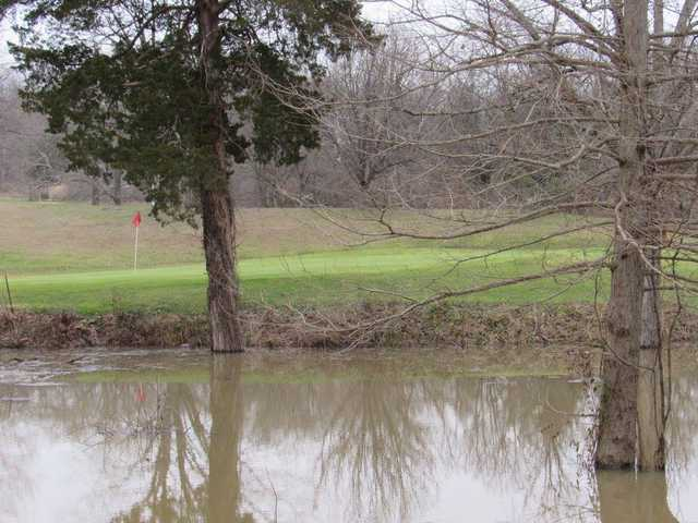 A view of a green with water coming into play at Loutre Shore Country Club.