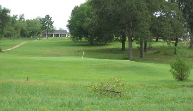 A view of a hole at Westwood Hills Country Club.