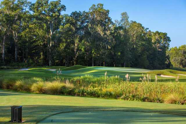 A view from the 17th tee at Hampton Hall Club.