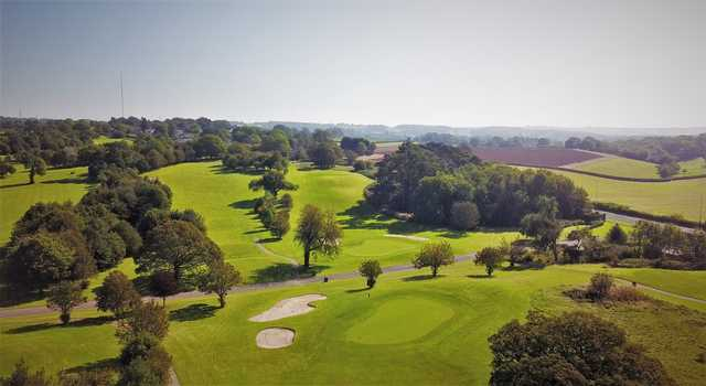 Aerial view of the 13th , 14th and 15th holes at The Mackintosh Course
