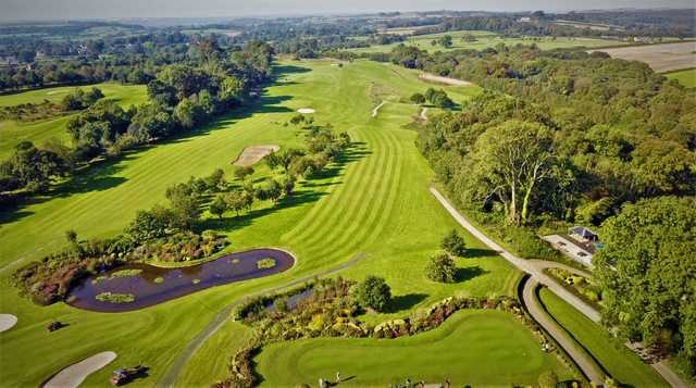 Aerial view from The Button Gwinnett at Cottrell Park Golf Club