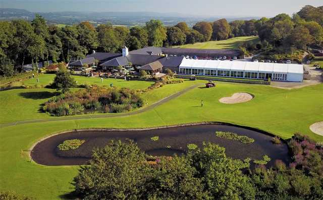 Aerial view from Cottrell Park Golf Club