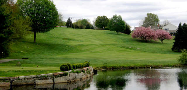 A view of a tee at Old Lyme Country Club.