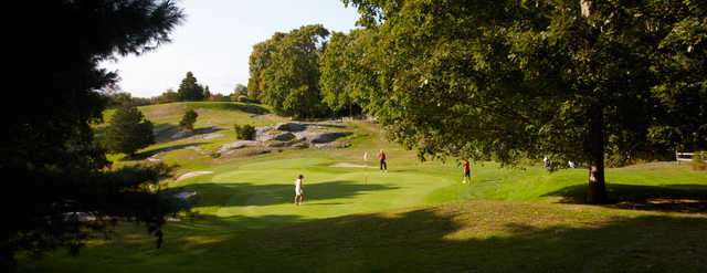 A view of a green at Old Lyme Country Club.