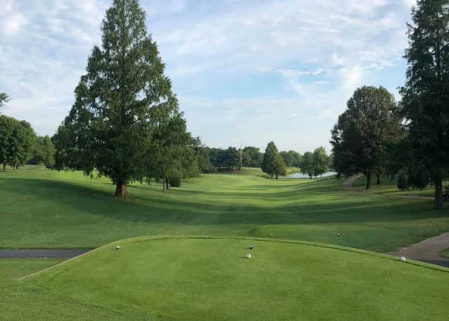 A view of a tee at Western Hills Country Club.