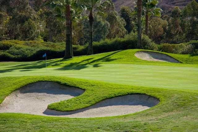 Bunkers guarding green at Talega Golf Club